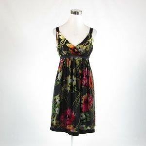Sue Wong black empire waist dress 6
